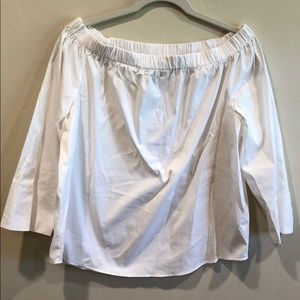 Zara NWT white off the shoulder blouse